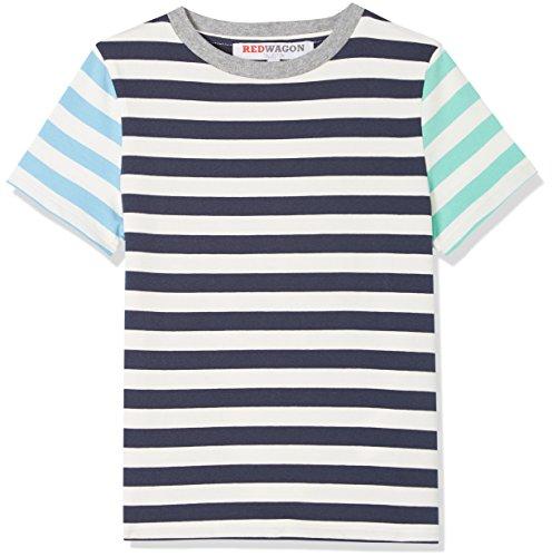 RED WAGON Jungen Stripe T-Shirt, Mehrfarbig (Multi), 104 (Herstellergröße: 4 Jahre) (Streifenmuster Multi)