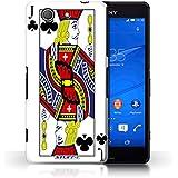 Carcasa/Funda STUFF4 dura para el Sony Xperia Z3 Compact / serie: Jugando a las cartas - Jack de clubes