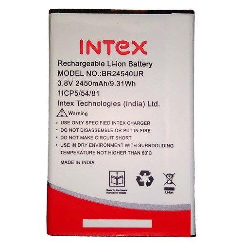 G n G Battery Model BR24540UR for Intex Aqua S3 with 2450 mAh (White)