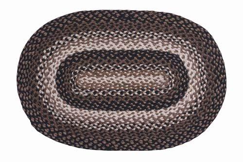 IHF Home Decor Geflochten Oval Teppiche Hengst Design Jute Stoff Schwarz mit Senf und Creme Farbe Modern 22