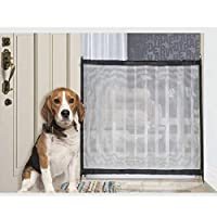 Zhongke Magic Gate Pet Dog Safe Guard Retractable Safety Enclosure Portable Folding Safe Guard Install Anywhere Keep Distance for Your Pets from Kitchen Or Outdoor Beautiful