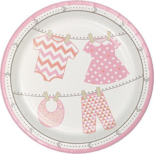Creative Converting 318742 Creative Party Celebrations Bundle of Joy Girl Paper Dinner Plates Platte, Papier, Mehrfarbig -