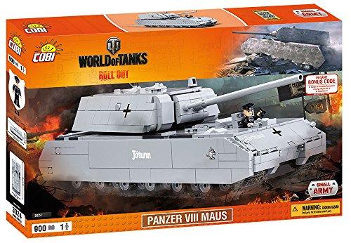 COBI 3024 - Panzer VIII Maus, Baukästen, grau