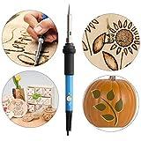 Millster Brandmalerei Pen Kit, 39Pcs Wood Burning Stifte Kits einstellbare Temperatur, einschließlich Craft Burning Tipps, Lötspitzen, Schablone, Konverter, Stand und Aufbewahrungstasche