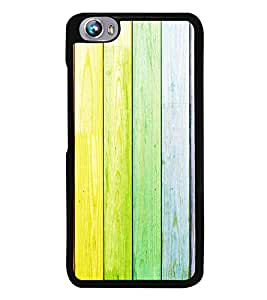PrintVisa Designer Back Case Cover for Micromax Canvas Fire 4 A107 (Yelloish Colour Wood Pattern)