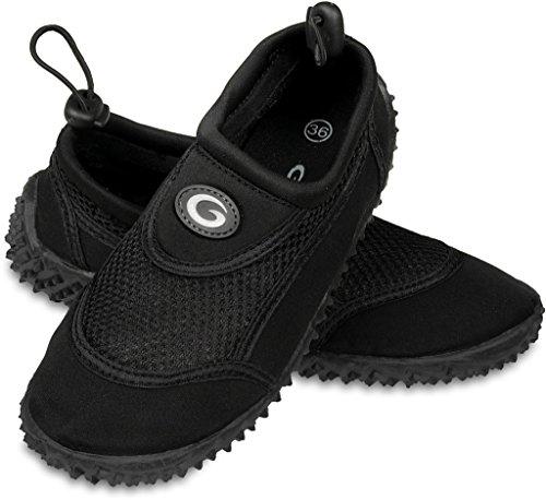 Gwinner le scarpe da acqua scarpe da surf aqua scarpe da donna Nero