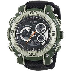 Nautec No Limit Buffalo AD BU QZ-AD/TXOLPCOLBK-OL XL Men's Analogue/Digital Quartz Watch