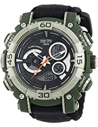Nautec No Limit Herren-Armbanduhr XL Buffalo AD Analog - Digital Quarz Nylon BU QZ-AD/TXOLPCOLBK-OL