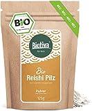 Reishi Pulver (Bio), 125g - Ganoderma lucidum - Glänzende Lackporling - Vitalpilz - Pilz der Unsterblichkeit - ohne Zusätze - Vegan - Abgefüllt und kontrolliert in Deutschland (DE-ÖKO-005)