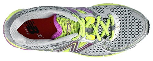 New Balance W860 B Chaussures de running pour femme Silver with Purple & Yellow