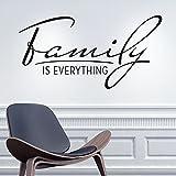 KLEBEHELD® Wandtattoo Family is everything | Spruch Familie | Größe 80x41cm, Farbe schwarz