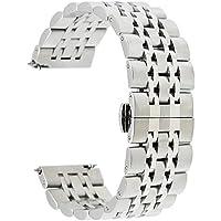 TRUMiRR 18mm Cinturino in acciaio inossidabile a farfalla in oro per Huawei Watch 1st Gen, Huawei Fit, Asus Zenwatch 2 Women WI502Q, Withings Activite/Pop/Steel HR 36mm, LG Watch Style