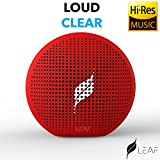 #8: Leaf Pop- Portable Wireless Bluetooth Speaker with Mic, Loud and Clear Audio, SD card reader, Aux, FM Radio and PHONE STAND (Ferrari Red)