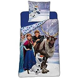 Reine des Neiges / Frozen Frozen/Frozen-Juego de cama-funda de edredón 140x 200cm funda de almohada 63x 63cm