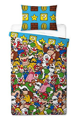 Super Mario - Funda de edredón, 200 x 130 cm