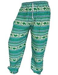 by soljo - Pantalon pantalons de loisirs sportifs pantalon Elephant turquoise