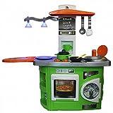 Molto Spielküche mit Lichteffekt Kinderküche GRÜN Waschmaschine Herd Backofen Küche Kinder NEU