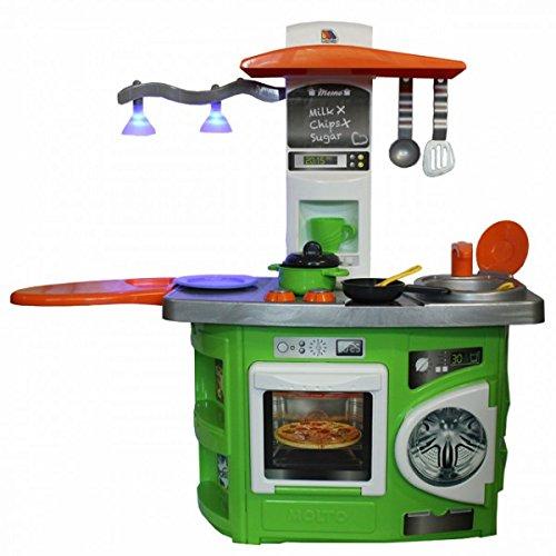 Preisvergleich Produktbild Molto Spielküche mit Lichteffekt Kinderküche GRÜN Waschmaschine Herd Backofen Küche Kinder NEU