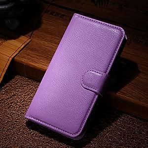 LD Case A000247 Housse portefeuille avec porte-carte de façon cuir lisse pour Wiko Birdy Violet