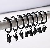 Agger 20Pack matt Metall Vorhang Ringe mit Clips Innendurchmesser 35mm Mehrzweck-Vorhang Clip Gardinenstange Gardinenringe