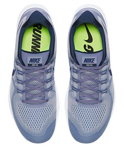 Nike Free Rn 2017, Scarpe De Course Uomo Grigio (gris Loup / Binaire Bleu-ciel Noir)