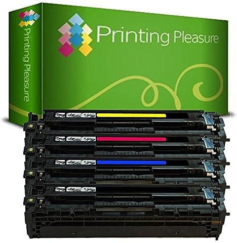 4 Compatible 201X Cartouches de Toner pour HP Color Laserjet Pro MFP M277DW, MFP M277N, M252DW, M252N - Noir/Cyan/Magenta/Jaune, Grande Capacité