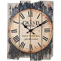 weizq–Reloj de pared vintage según los (30x 40cm)–Reloj de pared (Madera, 1, 30×40cm