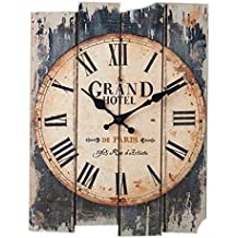Reloj de Pared Vintage, CT-Tribe 30×40cm Reloj de Pared Silencioso Decoración