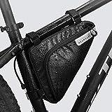 Roswheel Borsa Triangolare da Bicicletta, Bici Bicicletta Telaio Borsa Frontal Sacchetto per Casual/Trekking/MTB/Mountain Biking