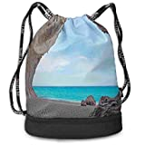 werert Dreamy Cara Luna Cave Multifunctional Drawstring Bag Gym Bag Sport Bag for Men Women