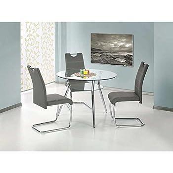 stilvoller runder esstisch arrondi weiss 90cm konferenztisch k chentisch tisch hochglanz wei. Black Bedroom Furniture Sets. Home Design Ideas