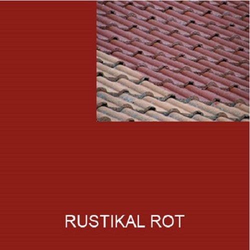 1L Ziegelfarbe Dachfarbe Dachbeschichtung Dachversiegelung in Rustikal Rot Dachrenovierung Metalldach Blechdach Flachdach Farbe Beschichtung Anstrich Ziegel Dach