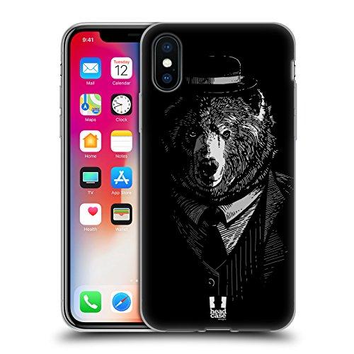 Head Case Designs Lion Animaux Chic Étui Coque en Gel molle pour Apple iPhone 5c Ours