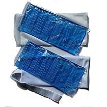 Compresa de frío / caliente de 2unidades con velcro vendaje y funda