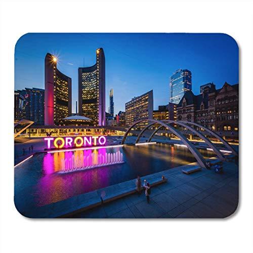 Luancrop Mauspad Ansicht von Nathan Phillips und Toronto unterzeichnen herein im Stadtzentrum gelegenes Mousepad für Notizbücher, Tischrechner-Mausunterlagen, Büroartikel