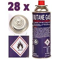 28x Cartucho de gas 227g Butano Cartuchos de Gas MFS 1A para hornillo de gas, Gas Calefacción, Gas, grabadora Mechero Bunsen