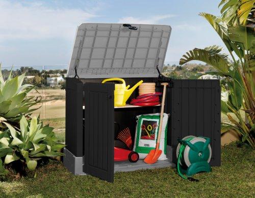 Mülltonnenbox von Keter Store it Out Midi, Schwarz, 845L - 3