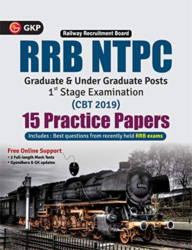 RRB NTPC 2019-20 : 15 Practice Papers (CBT 1st Stage)
