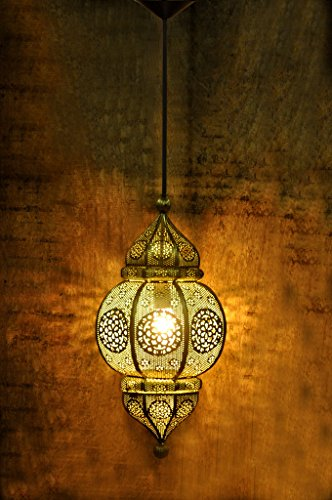 Logam Moroccan Filigree hanging pendant light