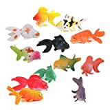 PIXNOR Animal Figurine Mini Poisson Rouge en Plastique Figurine Miniature ...