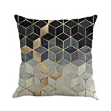Clearance! Pillow Case,Geometry Painting Linen Cushion Cover Party Festival Pillow Cover Sofa Home Decor 45cmx45cm (A)