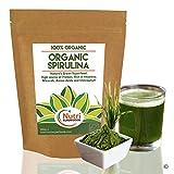 Espirulina Orgánica en Polvo - Apto Para Veganos, Rica en Nutrientes, Ayuda al Rendimiento Físico,...