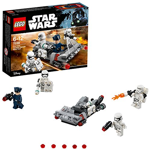 LEGO - Star Wars - Pack de combat le Speeder de transport du Premier Ordre - 75166 - Jeu de Construction