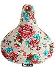 Basil - Funda impermeable para sillín de bicicleta, diseño Bloom Gardenia White