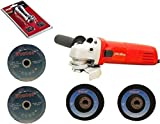 Foster FAG 6-100 4 Inch With 2 Cutting and 2 Grinding Wheel Angle Grinder (100 mm Wheel Diameter) with FREE and Skil LED Magnetic Torch
