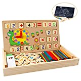 babyhelen montessori boîte d'apprentissage de math, jouets educatifs scientifiques tableau en bois,