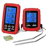 YISSVIC Termometro Cucina Digitale con Doppia Sonda Timer Display LCD con -20 ℃ ~ 300 ℃ Ampio Campo di misurazione per Grill Forno