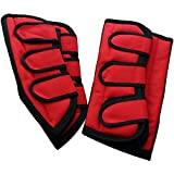 Transportgamaschen aus Polyester rot/schwarz Warmblut