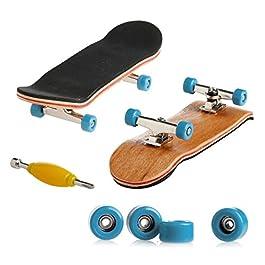 Dairyshop – Mini tavola da skateboard per le dita, professionale, in legno di acero, per bambini, confezione regalo