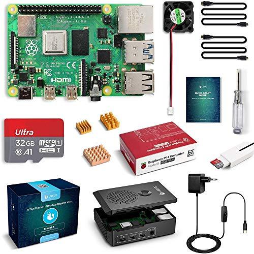Foto LABISTS Raspberry Pi 4 Model B 4GB RAM Starter Kit, RPi Barebone con MicroSD...